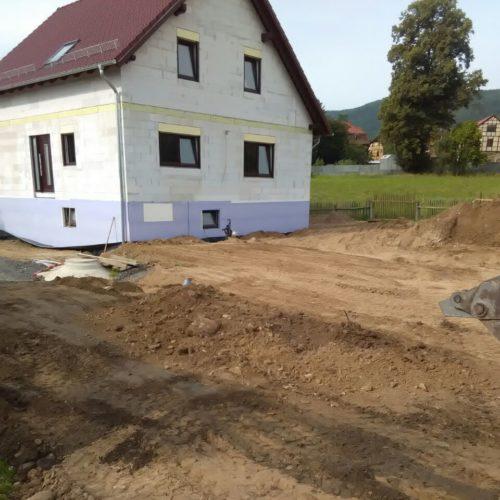 Erdarbeiten Verfüllung Arbeitsraum und Geländeregulierung EFH Neubau Saalfeld