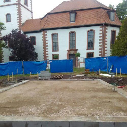 Erdarbeiten Neubau Trauerhalle Eckstedt