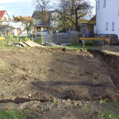 Erdarbeiten Neubau EFH Saalfeld