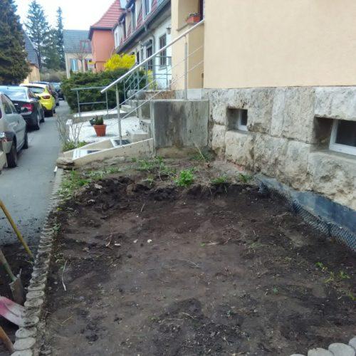 Vorgartengstaltung Weimar vorher