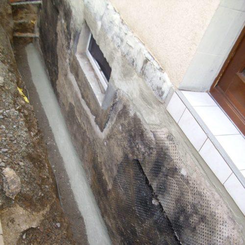 Kellerabdichtung im Straßenbereich Kamsdorf